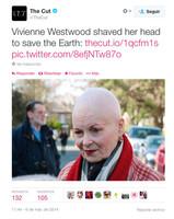 Vivienne Westwood sacrifica su característica cabellera roja para protestar contra el cambio climático