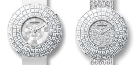El reloj modelo Damier Absolu de Louis Vuitton ahora en su versión Rivière engastada con diamantes