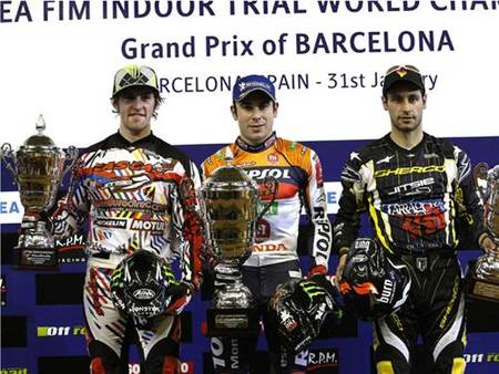Podium trial Barcelona