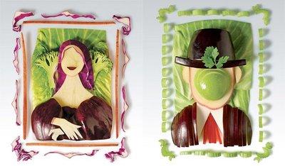 Cuadros con verduras
