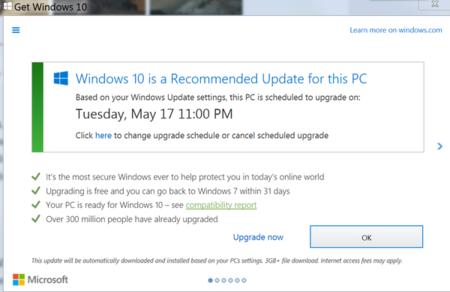 Windows 10 Forced Upgrade W 600