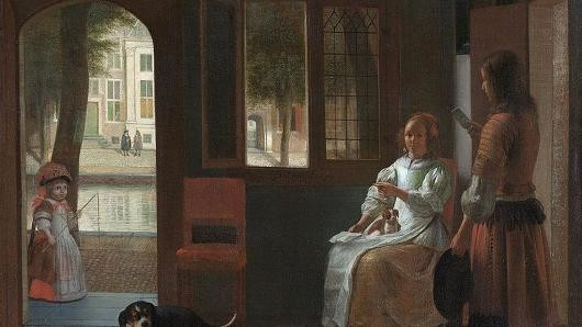 103664210 Man Hands A Letter To A Woman In A Hall By Pieter De Hooch 530x298