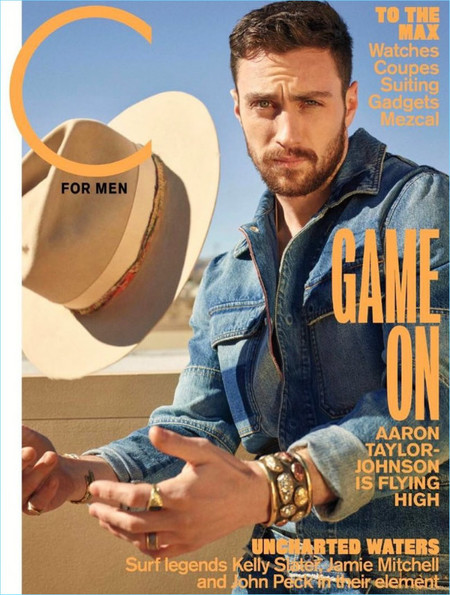 Aaron Taylor Johnson C For Men 2017 Cover