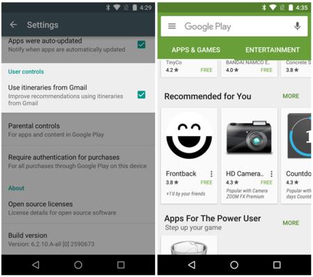 Play Store ahora puede usar los mensajes de Gmail para recomendarte aplicaciones