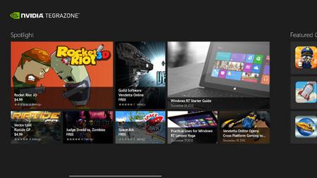 NVIDIA TegraZone llega a los tablets con Windows RT
