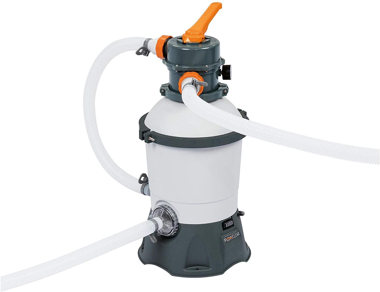 Bestway Flowclear Pool - Filtro de arena con dosificador ChemConnect integrado