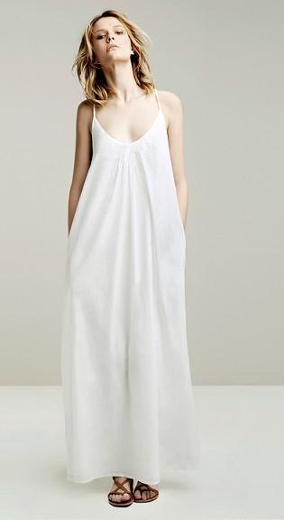 vestido largo zara blanco