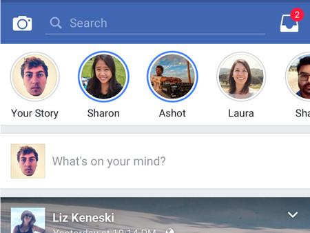 Facebook para iOS se une a la moda Snapchat: se está probado una adaptación de Stories de Instagram