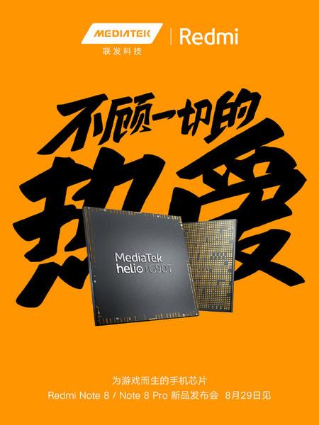 Xiaomi Redmi Note 8 Note 8 Pro Chipsets Mediatek Helio G90t Oficial