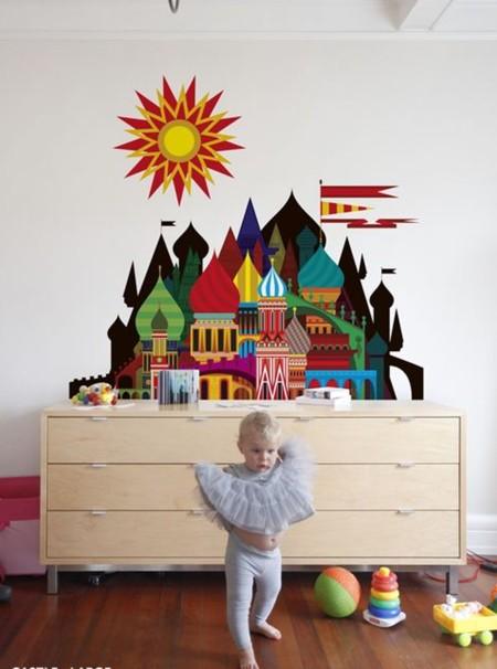 Kidsroom Vinilo Castillo