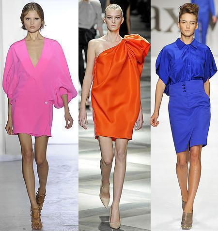 Los colores tendencia de esta primavera verano 2009