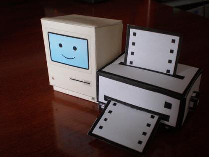 Geniales recortables de Mac Classic e impresora