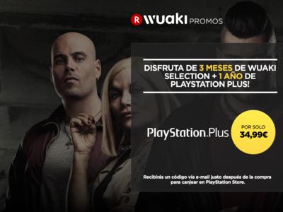 1 año de PlayStation Plus, con 3 meses de Wuaki Selection de regalo, por 34,99 euros