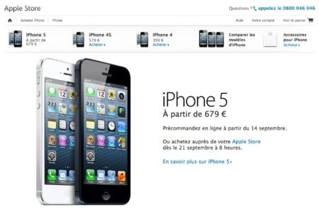 Los precios del iPhone 5, altos como esperábamos y poco descuento para la generación anterior