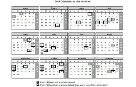 La Agencia Tributaria publica el calendario laboral de días inhábiles de 2014