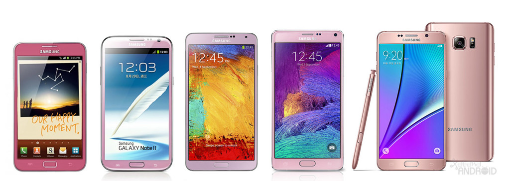 Galaxy Note Rosa Evolucion