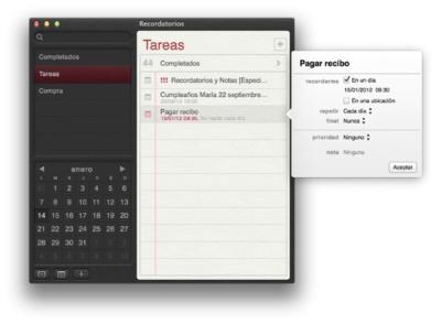 Trucos para Recordatorios de OS X