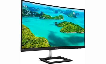 Amazon y PcComponentes te dejan una enorme pantalla curva de 32 pulgadas 2K para tu PC como la del Philips E-Line 325E1C/00 por sólo 239,99 euros