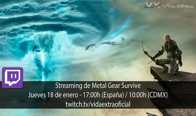 Streaming de Metal Gear Survive a las 17:00h (las 10:00h en Ciudad de México)