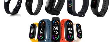Siete años de Xiaomi Smart Band: así ha evolucionado la pulsera hasta llegar a la Mi Smart Band 6