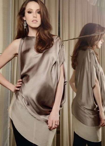 Moda embarazadas Primavera/Verano 2014: blusas o tops de fiesta para lucir tripa