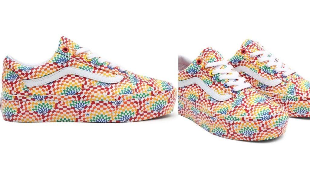 Zapatillas casual de mujer Old Skool Platfor Pride Vans