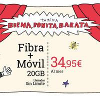 Lowi recupera su tarifa fibra a 100 Mbps y móvil con 20 GB por 34,95 euros
