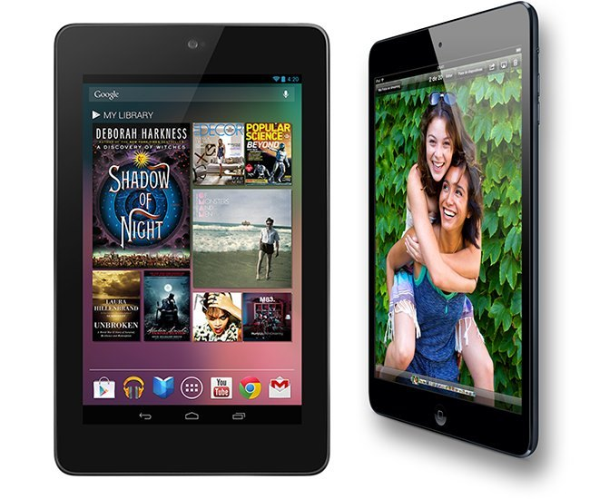 Nexus 7 e iPad Mini