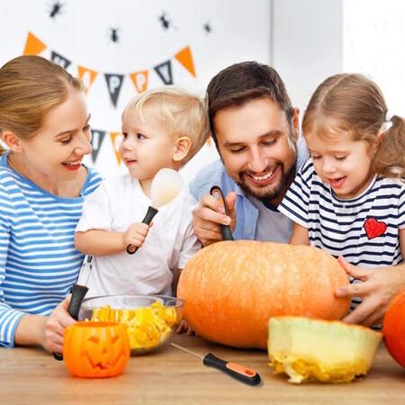 Calabazas de Halloween DIY fáciles, terroríficas y divertidas, preparadas en familia: cuatro ideas