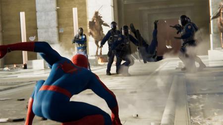 Combate Policia Spiderman