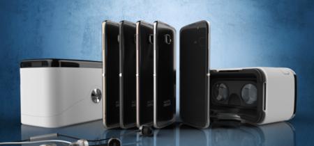 La caja de este teléfono Alcatel hace las veces de Google Cardboard, un visor para realidad virtual