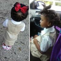 El antes y el después de un precioso peinado tras el primer día de colegio