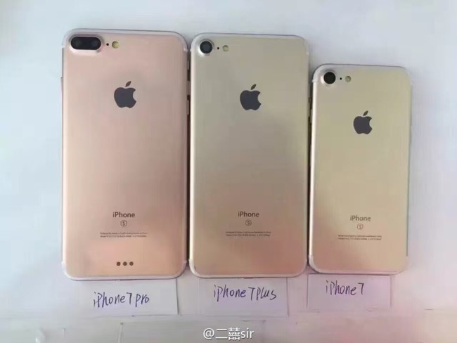 Iphone 7 Iphone 7 Plus Iphone 7 Pro Back