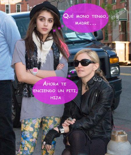 A Madonna solo le falta comprarle los cigarrillos a Lourditas... ¡y encendérselos!