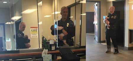 Un policía cuidó a tres niños, para que la madre de ellos pudiera poner una denuncia por violencia doméstica