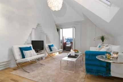 Casas que inspiran decorar un tico peque o y abuhardillado - Como decorar una buhardilla ...