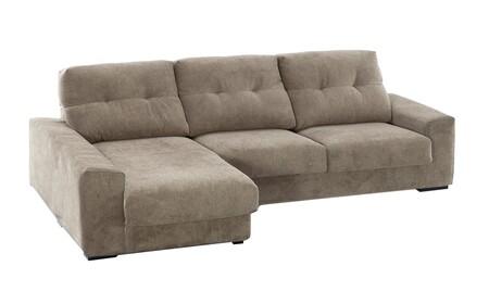 Sofá tapizado con chaise longue