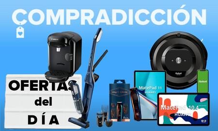 Ofertas del día y chollos en Amazon: tabletas Huawei, robots aspiradores Roomba y Vileda, cafeteras Bosch o cuidado personal Braun a precios rebajados