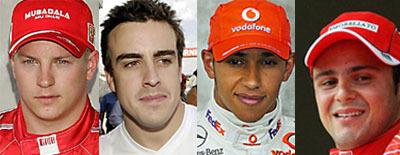 Cuatro pilotos y un mundial