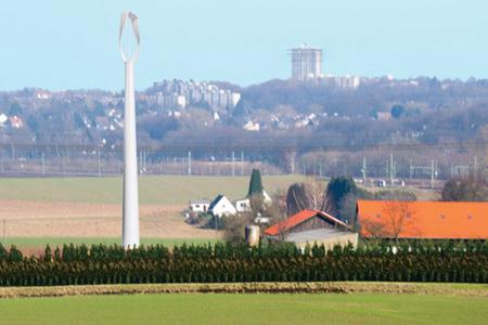 Produce tu propia electricidad con un molino de viento en el jardín