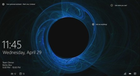 Windows 10 Lockscreen Cortana Story