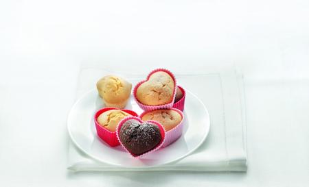 """Moldes """"Corazón"""" para muffins o magdalenas"""