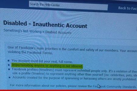 Los problemas de llamarse igual que un famoso en Facebook