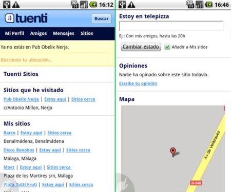 Tuenti añade geoposicionamiento a su servicio Tuenti Sitios