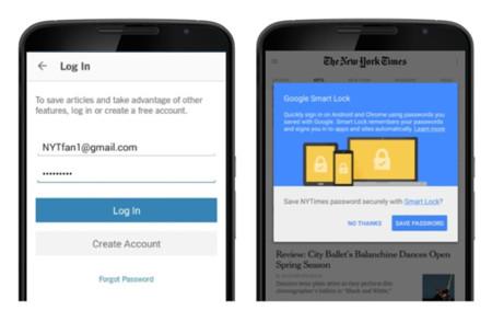 Google Smart Lock ahora como gestor de contraseñas en Chrome y Android