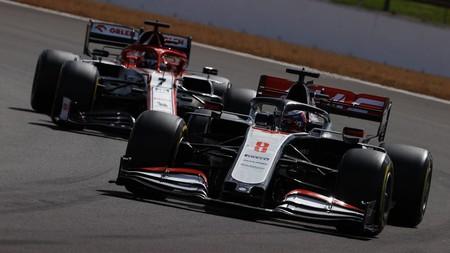 Grosjean Raikkonen Silverstone F1 2020