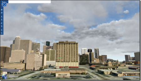 Virtual Earth 3D con nubes