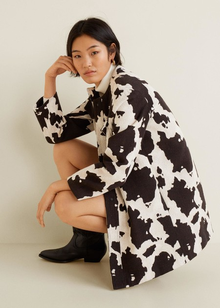 street style brown cow print