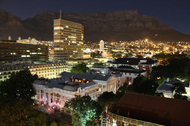 vista nocturna Table Mountain Sudafrica