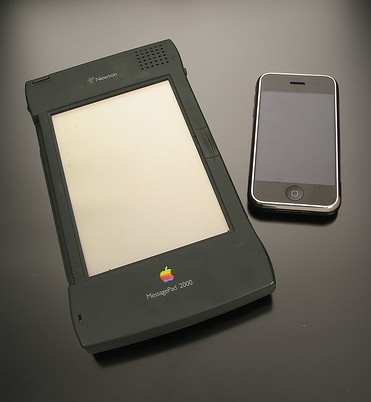 Imagen de la semana: Newton e iPhone